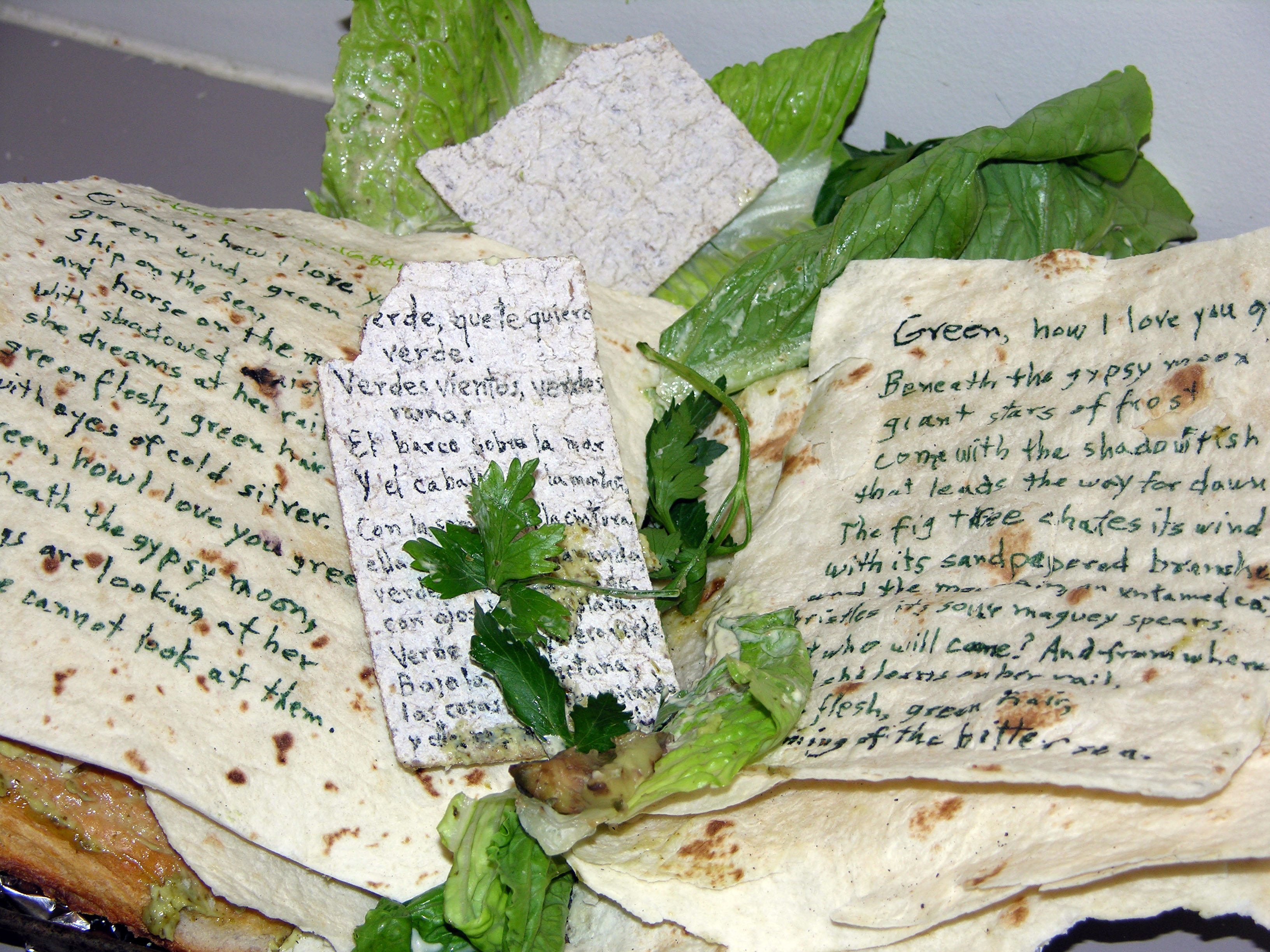 Book on Fattoush Bread